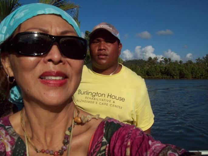 Dariel navigated us safely onto shore.